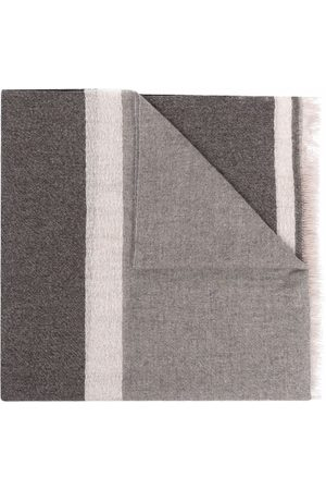 D'aniello Man Sjalar - Stripe-trim scarf