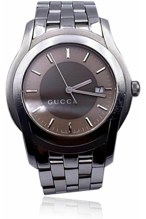 Gucci Pre-owned Stainless Steel Mod 5500 XL Wrist Watch Bicolor Dial