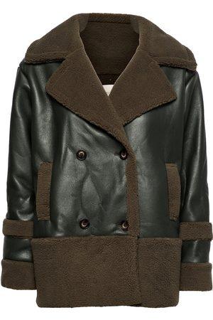 By Malina Kvinna Skinnjackor - Piper Shearling Jacket Läderjacka Skinnjacka