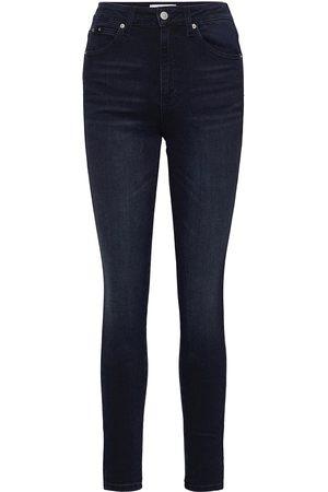 Calvin Klein Kvinna High-waist jeans - High Rise Skinny Ankle Skinny Jeans Blå