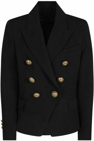Balmain Double-Breasted Blazer With Gold Buttons