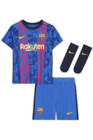 Nike Fotbollsställ FC Barcelona 2021/22 (tredjeställ) för baby/små barn