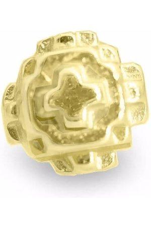 HARRIET MORRIS Man Örhängen - Pixel litet stiftörhänge i 9K gult guld