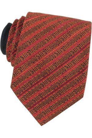 Missoni Man Slipsar - Signature Diagonal Stripe Woven Silk Narrow Tie