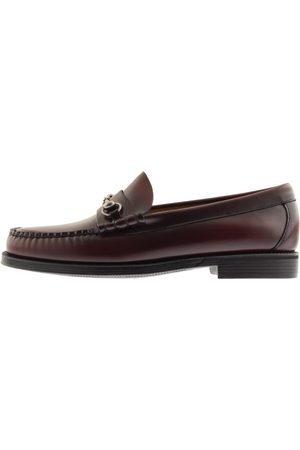 GH Bass Weejun Lincoln Leather Loafers Burgundy