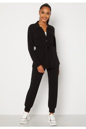 Happy Holly Kvinna Byxor - Alessi soft pants Black 36/38