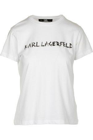 Karl Lagerfeld T-tröja kort ärm rund krage rund graffiti logotyp