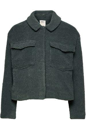 ONLY Onlmarina L/S Crop Teddy Jacket Cc Pnt Outerwear Faux Fur Beige
