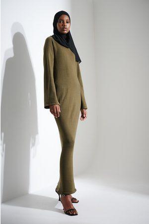 Khaoula x NA-KD Kvinna Stickade klänningar - Stickad lång klänning
