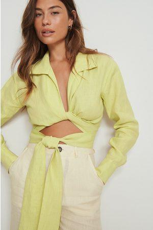 NA-KD Kvinna Skjortor - Skjorta med knytdetalj