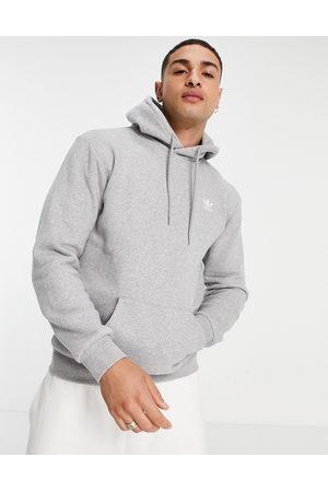 adidas Man Hoodies - – Essentials – Ljunggrå huvtröja med liten logga