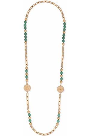 Dolce & Gabbana Man Halsband - Pärlat halsband med logotyp