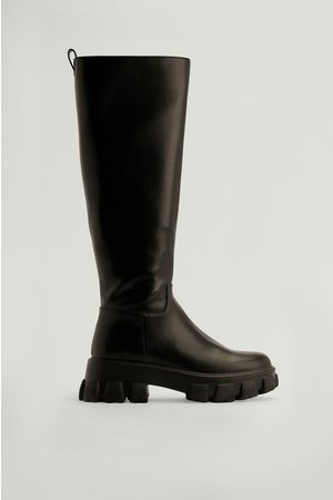 NA-KD Kvinna Boots - Återvunna Boots Med Profilsula