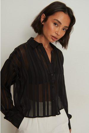 NA-KD Kvinna Skjortor - Randig skjorta