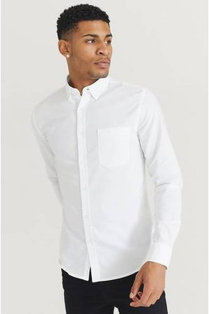 Studio Total Man Skjortor - Skjorta Melker Oxford Shirt Vit