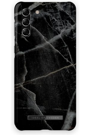 IDEAL OF SWEDEN Mobilskal - Fashion Case Galaxy S21 Plus Black Thunder Marble