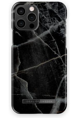 IDEAL OF SWEDEN Mobilskal - Fashion Case iPhone 12 Pro Black Thunder Marble