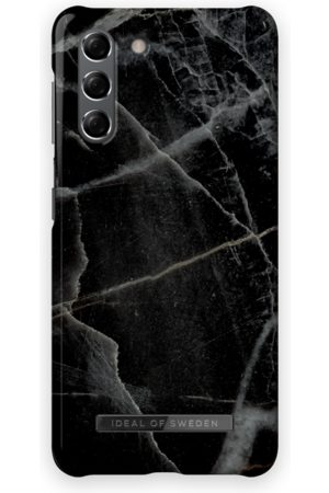 IDEAL OF SWEDEN Mobilskal - Fashion Case Galaxy S21 Black Thunder Marble