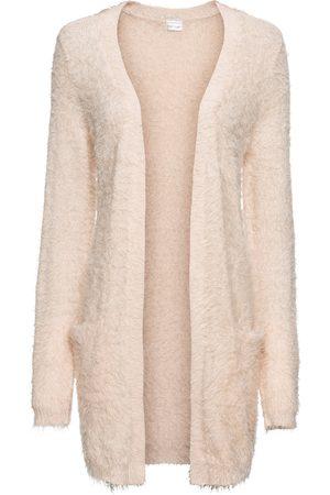 bonprix Lång cardigan med fluffigt utseende