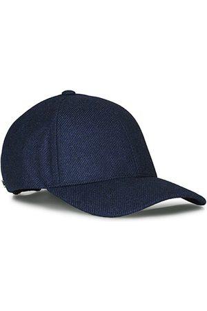 Varsity Man Kepsar - Loro Piana Cashmere Baseball Cap Navy