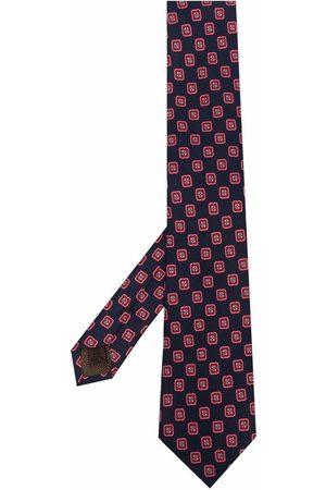 Church's Man Slipsar - Geometric print silk tie