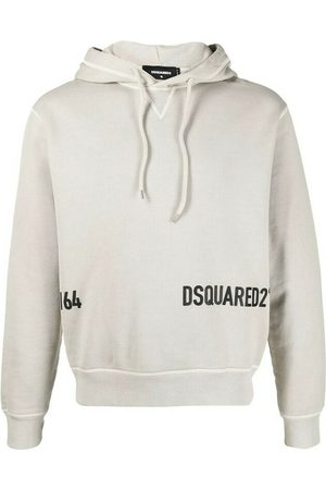 Dsquared2 Cropped Logo-Print Hoodie
