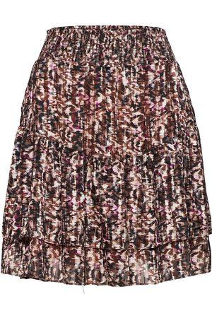 Dante 6 Kvinna Mönstrade kjolar - Wonderous Print Jacquard Skirt Knälång Kjol Multi/mönstrad