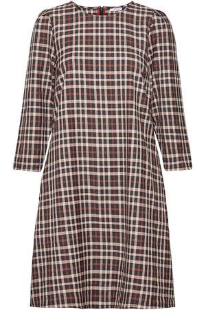 Numph Siscarlett Dress Knälång Klänning Multi/mönstrad
