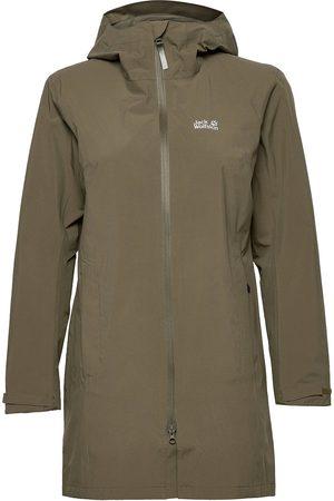 Jack Wolfskin Kvinna Regnjackor - Jwp Coat W Outerwear Rainwear Rain Coats Grön