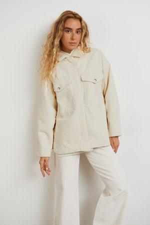 Gina Tricot Kvinna Casual skjortor - Teddy twill overshirt