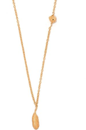 NICK FOUQUET Long mixed charm necklace
