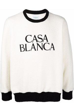 Casablanca Logo-print fleece jumper