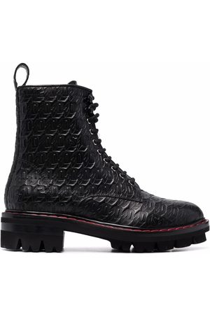 Dsquared2 Monogram lace-up leather boots