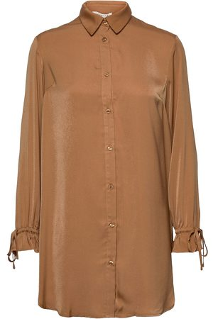 Rosemunde Kvinna Tunikor - Recycled Polyester Tunic Ls Tunika Brun