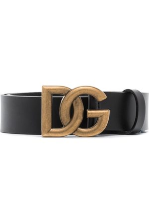 Dolce & Gabbana DG INTRLCK LOGO BUCKLE 35 BELT BLACK