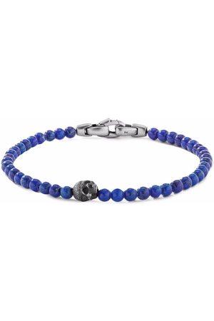 David Yurman Man Armband - Pärlat armband med dödskalle 4 mm