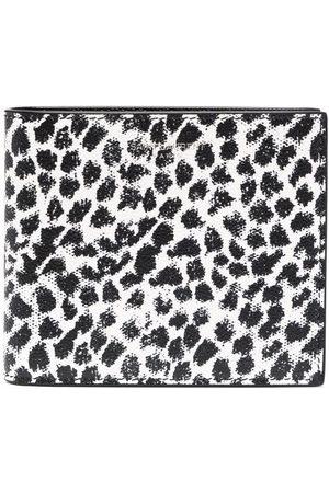 Saint Laurent Man Plånböcker - Leopard-print leather wallet