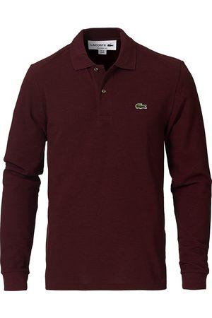 Lacoste Man Långärmade t-shirts - Long Sleeve Polo Vine Chine