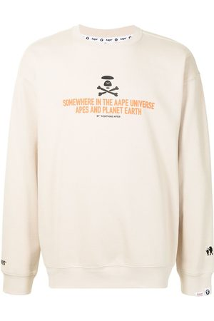 AAPE BY A BATHING APE Slogan-print sweatshirt