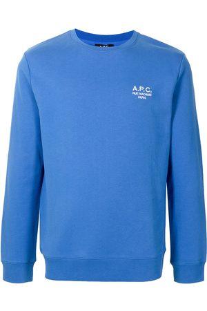 A.P.C. Logo-embroidered cotton sweatshirt