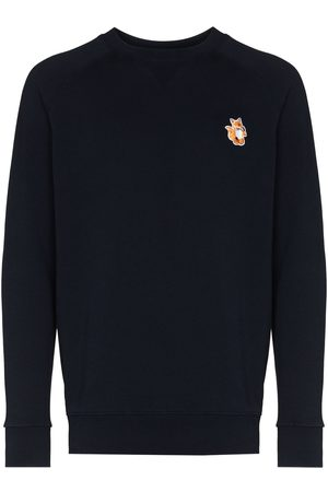Maison Kitsuné Man Sweatshirts - All Right fox patch sweatshirt