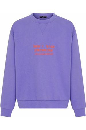 Dolce & Gabbana Man Sweatshirts - Präglad sweatshirt