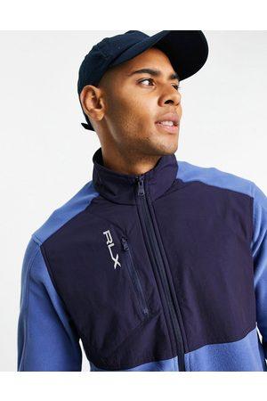 Polo Ralph Lauren Golf – RLX hybrid – /marinblå och blockfärgad sweatshirt med kort dragkedja