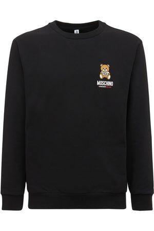Moschino Logo & Puff Teddy Cotton Sweatshirt