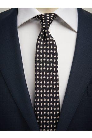 John Henric Black Tie Small Paisley