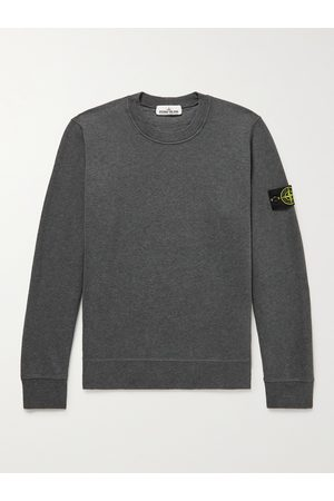 Stone Island Logo-Appliquéd Cotton-Jersey Sweatshirt