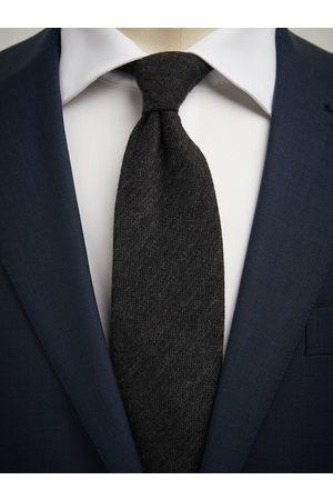 John Henric Dark Grey Cashmere Tie