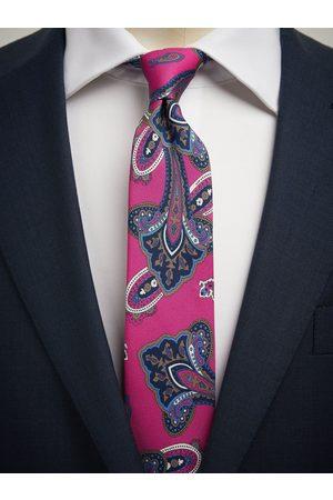 John Henric Man Slipsar - Pink Tie Paisley