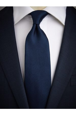 John Henric Man Slipsar - Dark Blue Tie Structure