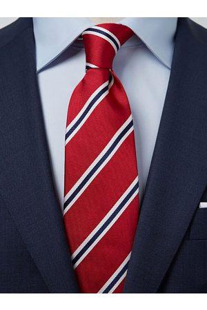 John Henric Man Slipsar - Red & Blue Tie Striped